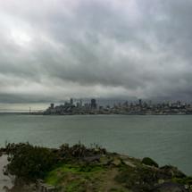 Bouřkové mraky nad San Franciskem