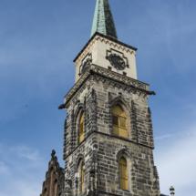 Kamenná věž kostela sv. Jiljí