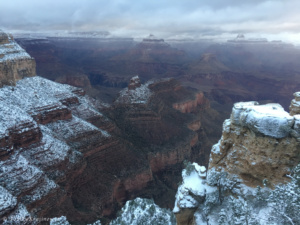 Zasněžený Grand Canyon