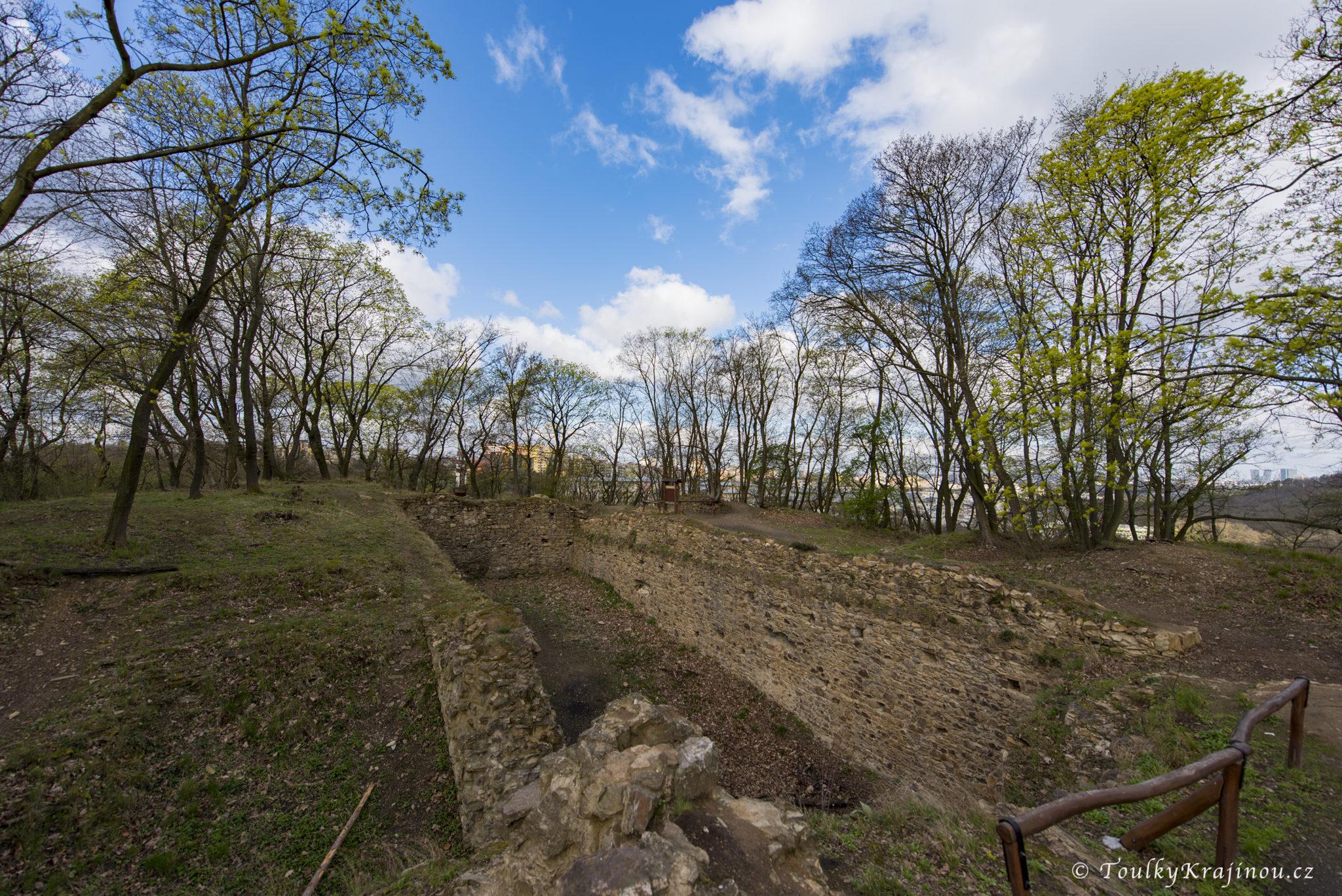 Pohled na zříceninu hradu