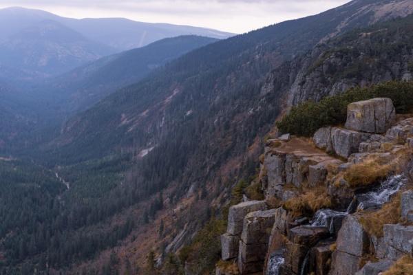 Labská bouda a vodopády – Trasa 21,1 km